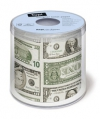 Toiletpapier met Dollar biljetten