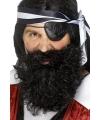 Zwarte piraten baard gekruld