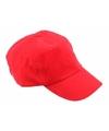 Voordelige baseballcaps rood